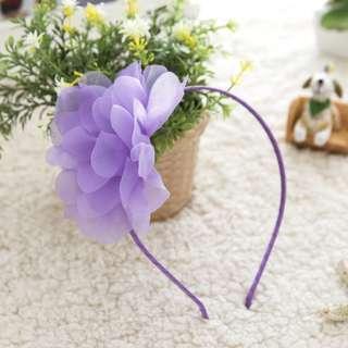 BN purple flower hairband