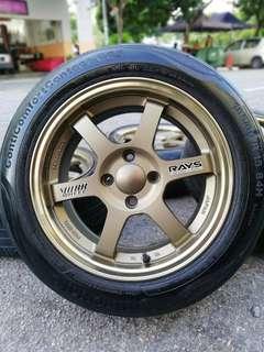 Te37 thailand 15 inch sports rim vios tyre 70%. Makan tomyam rasa pedas, uwowwwww zaszzZZz!!!