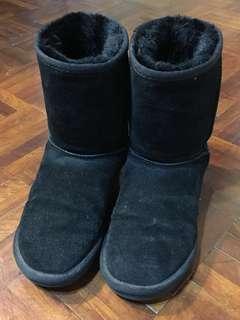 二手 黑色雪靴