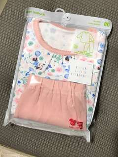 Uniqlo Baby Girl Disney Pyjamas Set