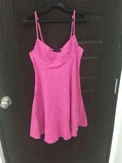 F21 Hot pink dress