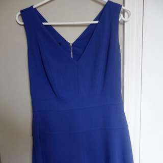 Judith and Charles royal blue A line dress