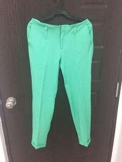Mint green slacks pants