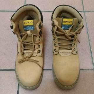 (男)bonjo 高筒靴 土黃 麂皮 鞋