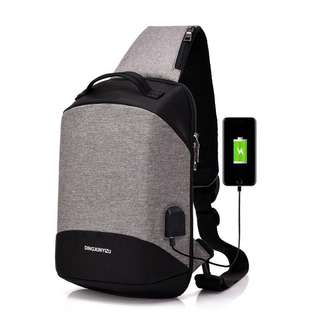 Chest Shoulder sling Bag with USB Charging Port (FREE POSTAGE)