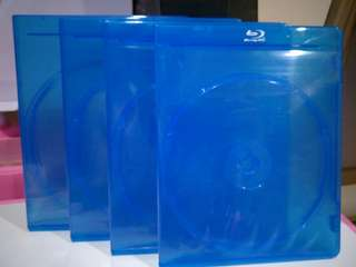 Blu-ray disc empty cover, hold 2 discs