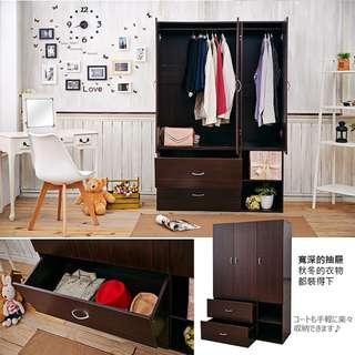 三門二抽衣櫥/衣櫃(2色)