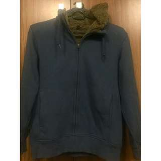 Uniqlo mens fleece full zip hoodie jacket M