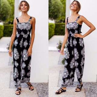 Printed Nonsleeves Jumpsuit