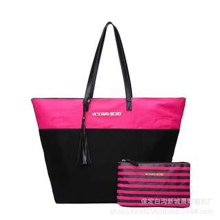 2 in 1 Victoria Secret Tote Handbag (FREE POSTAGE)