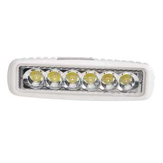 "134. 18W LED Light Bar 6.2"" DC 9-32V 6500K 1170LM 30 Degree for ATV Jeep boat suv truck car atvs light Off Road Waterproof Led Work Spot Light Bar (White)"