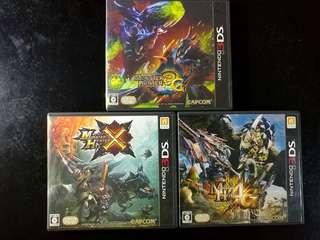 3DS 日版 Monster Hunter 3隻