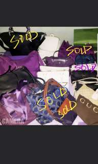 Personal Preloved bags