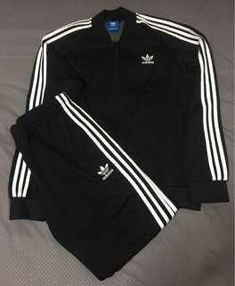 Adidas OG Track Jacket and Pants Black Sz L