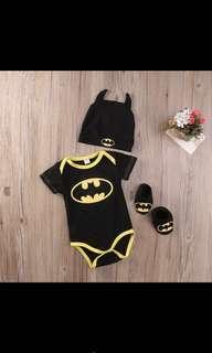 Cute Baby Newborn Infant Batman Romper Hat Shoe Clothes Boy [PO]