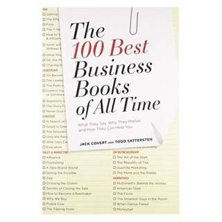 (Ebook) The 100 Best Business Books of All Time: What They Say, Why They Matter, and How They Can Help You by Jack Covert, Todd Sattersten