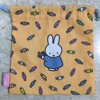 miffy 日本扭蛋 索繩袋 筆袋 化妝袋 多用途