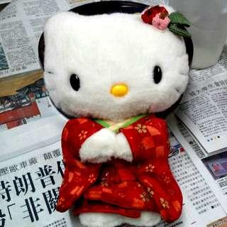 绝版 和服 日本刺绣 限定 Hello Kitty 公仔