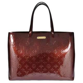 Authentic Louis Vuitton Wilshire MM Rouge Fauvis