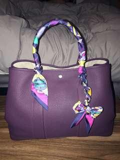 激罕 Hermes garden party 36 purple colour 🈹 Chanel boy woc gst handle coco bag 鏈袋 背包 背囊 銀包 Prada wallet Backpack vintage
