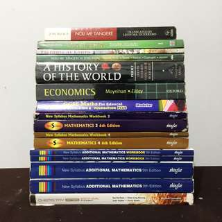 Highschool Textbooks (Mathematics, Chemistry, Economics, and Filipino)