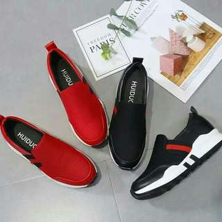 Sneaker Wedges Slip On kode 801