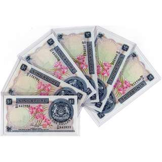 CLEARANCE SALES: Singapore Orchid Series $1 Banknotes