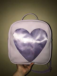 WEGO Purple backpack with transparent pocket