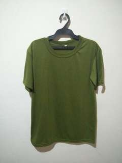 Plain army green shirt
