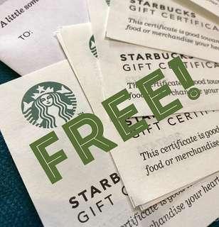 Free Starbucks GC! Read!!!