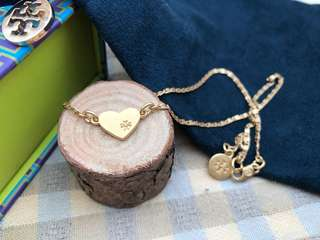 Tory Burch Gold Heart Pendant Necklace