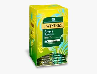 Twinings SIMPLY SENCHA - 20 PYRAMID BAGS (INDIVIDUALLY WRAPPED) 川寧 煎茶20個茶包裝(獨立包裝)