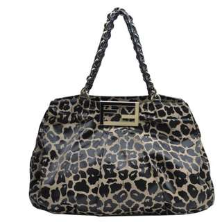Authentic Fendi Leopard Chain Handle Bag