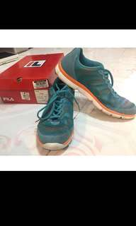 Fila rubber shoes aqua/orange