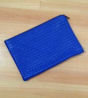 Authentic Bottega Veneta Blue Portfolio - Medium size