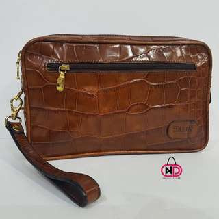 AUTHENTIC BALLY LEATHER CLUTCHBAG