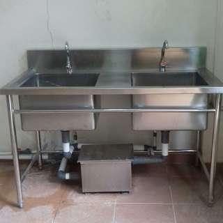 double sink untuk cuci piring