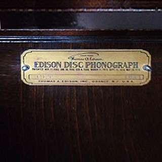 Genuine 1920 Thomas Edison Diamond Disc + Vinyl Player Over 1,300 Museum Collection Discs *RESTORED
