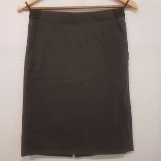 Uniqlo Straight Gray Skirt