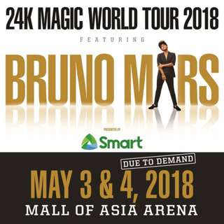 Two (2) BRUNO MARDS 24K Magic World Tour VIP 1 Standing (May 03)