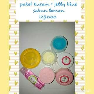 Paket kusam jelly blue sabun lemon