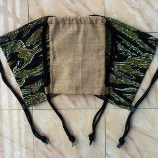 Drawstring bag / Tas Serut Goni & Tiger Striped Camouflage