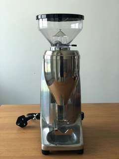 Quamar M80E 63mm Coffee Grinder (Polished Aluminium)