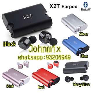 X2T TWS 藍芽雙耳機連充電盒 Wireless Bluetooth Earbuds Truly Wireless Bluetooth Sports Headphone Noise Cancelling Stereo Bluetooth V4.2 for ipod Wireless Earbuds Stereo Surround Sound Headset Earphone