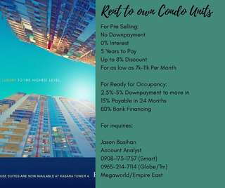 Rent2OnwCondoUnits Starts@7k Above