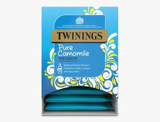 Twinings PURE CAMOMILE - 20 PYRAMID BAGS (INDIVIDUALLY WRAPPED) 川寧甘菊茶20個茶包裝(獨立包裝)