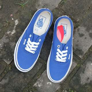 Vans Authentic Pop Check Blue Print (BNIB)