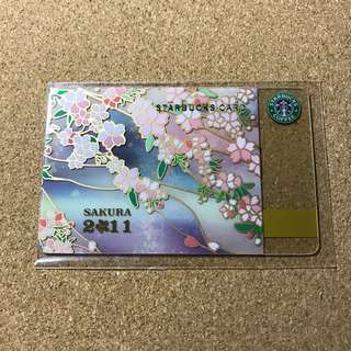 Japan Starbucks Sakura Cherry Blossom Card 2011
