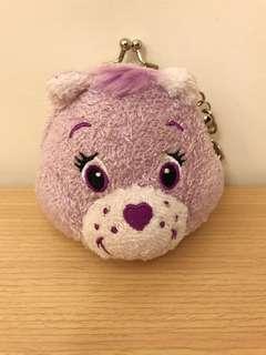 🚚 日本帶回~彩虹熊Care bears 零錢包 全新 可掛鑰匙