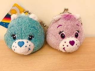 🚚 日本帶回~彩虹熊 Care Bears 零錢包 可愛 療癒 全新 可吊掛鑰匙